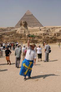 Bandera y sidra en Egipto
