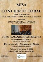 Concierto Coral 29-05-2010 a las 20h - Coro Samaniego Abesbatza - Coro Vetusta