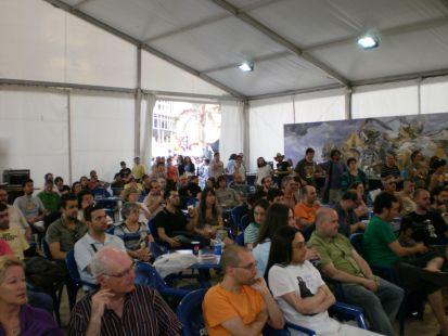 Público en las charlas...