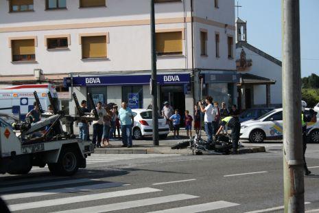 Accidente  de moto en la carriona