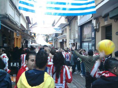 La Mareona ántes del partido en La Coruña