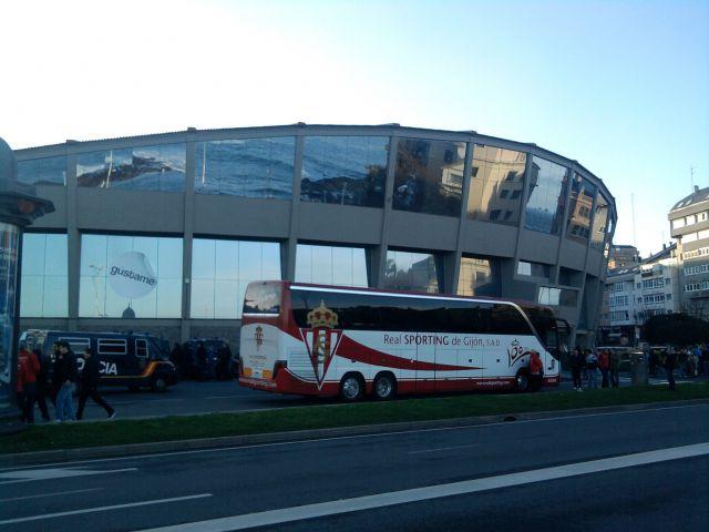 El Bus del Sporting en Riazor