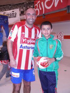 Abelardo con la promesa del futbol....MATEO