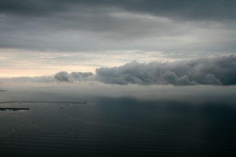 Nubes en El Musel