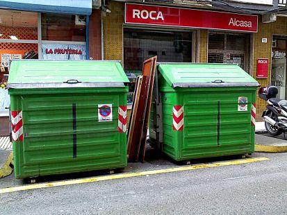basura a la calle