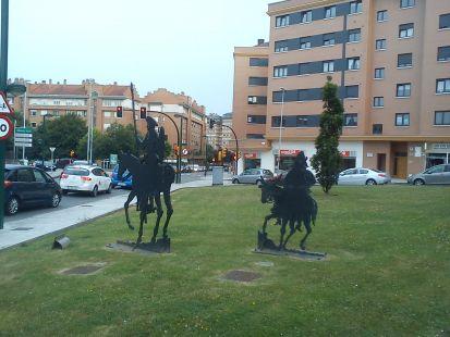 D. Quijote y Sancho Panza
