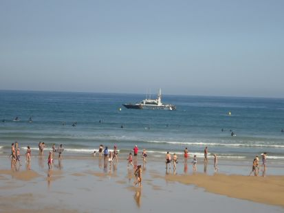 Patrullando la playa