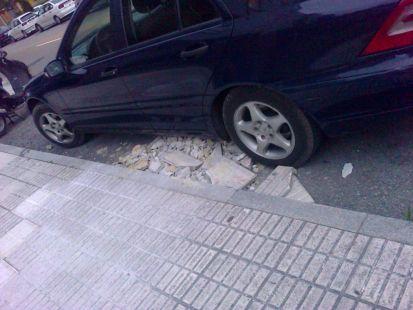 Escombro en la calle